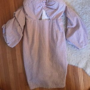 Dresses - Branded shop midi pink striped dress